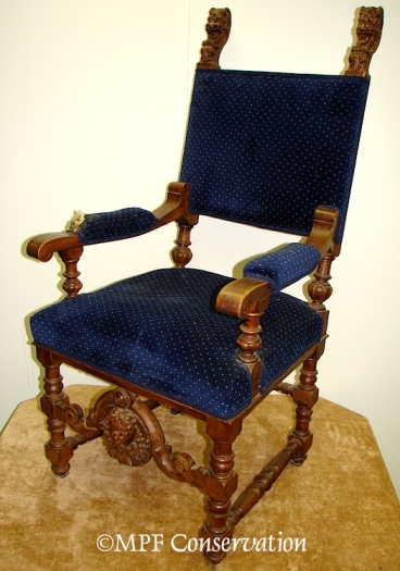 German Gothic Revival Fauteuil ca. 1860