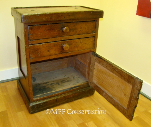 NPS McLoughlin House Washstand S.S.Beaver after Treatment