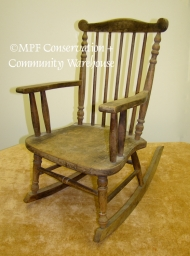 Heywood-Wakefield Child Rocker before Treatment