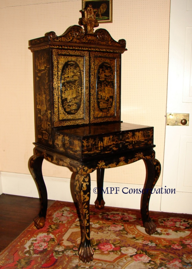 Marguerite McLoughlin's Chinese Lacquer Sewing Cabinet After Conservation Treatment