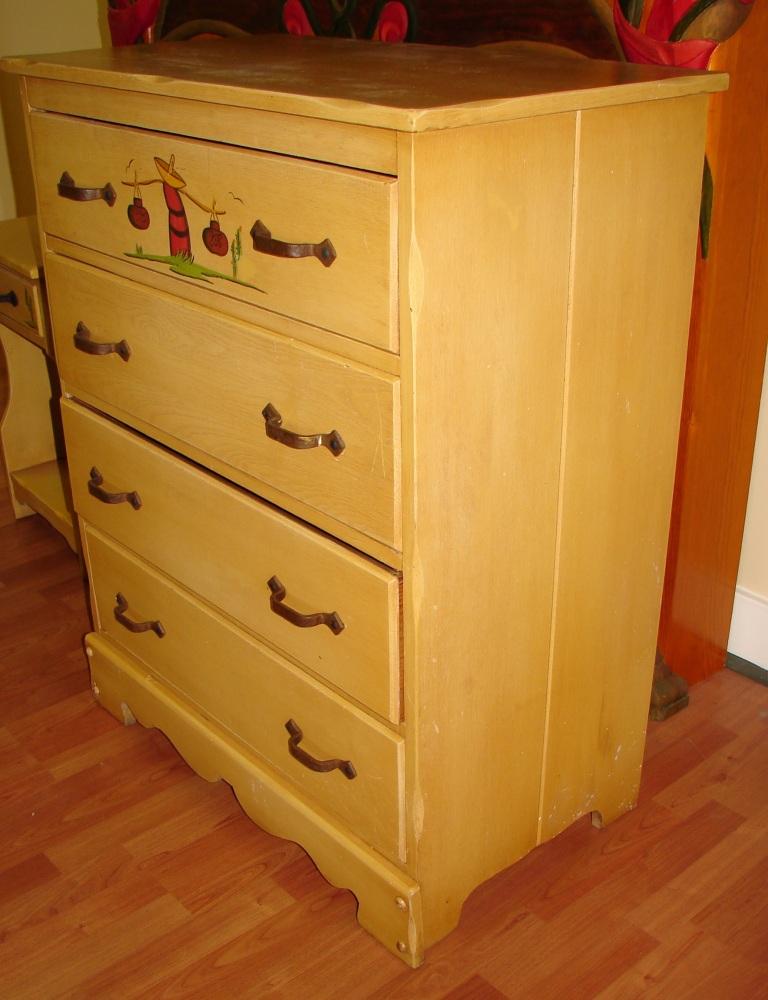 Mason Monterey Juan Tinoco Mexican Highboy Dresser (3/6)