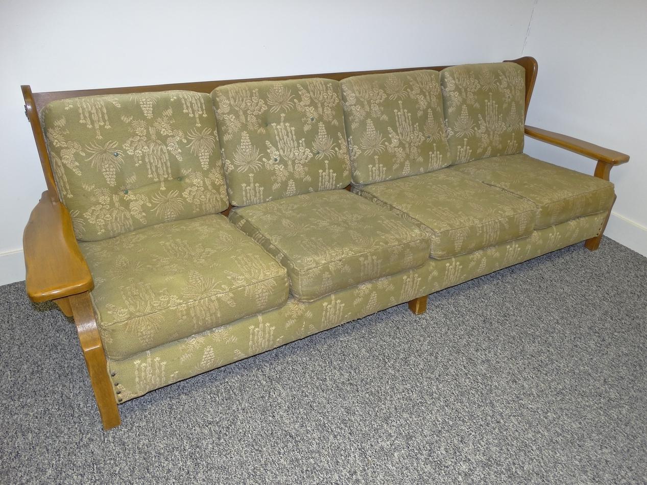 High Quality Mason Monterey RARE 4 Cushion Sofa With Original Paint And Original Fabric!