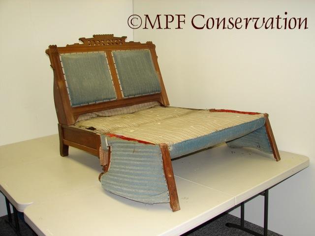 Eastlake Sofa-Bed Upholstery Conservation #1: Excavation (3/6)