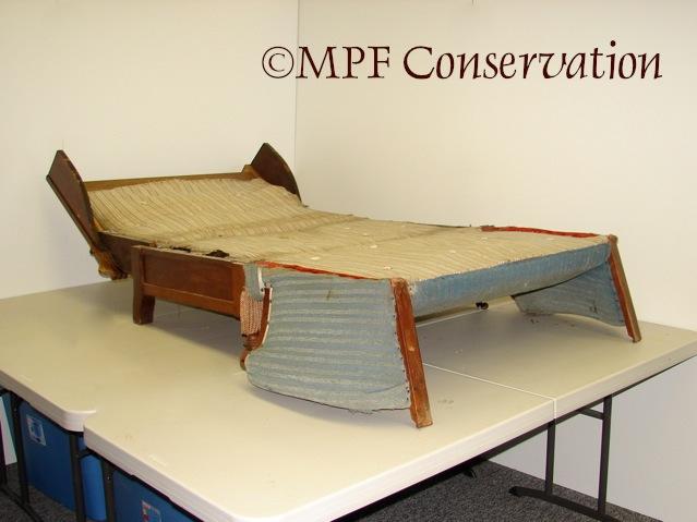 Eastlake Sofa-Bed Upholstery Conservation #1: Excavation (4/6)