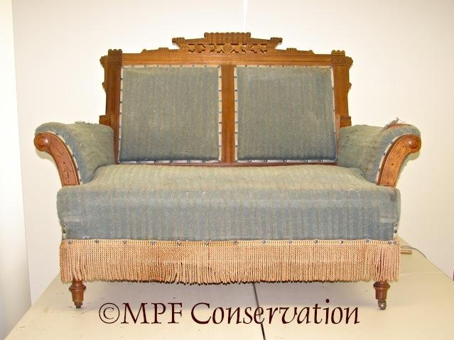 Eastlake Sofa-Bed Upholstery Conservation #1: Excavation (1/6)
