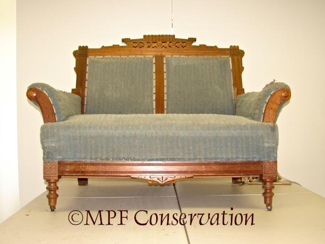 Eastlake Sofa-Bed Upholstery Conservation #1: Excavation (6/6)