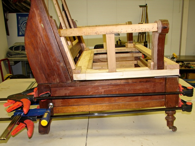 East Lake Sofa-Bed Upholstery #3: Finish Reparation (4/6)