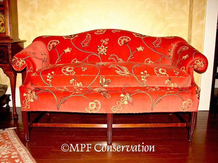 Process: Chippendale Camelback Settee Upholstery  (3/5)