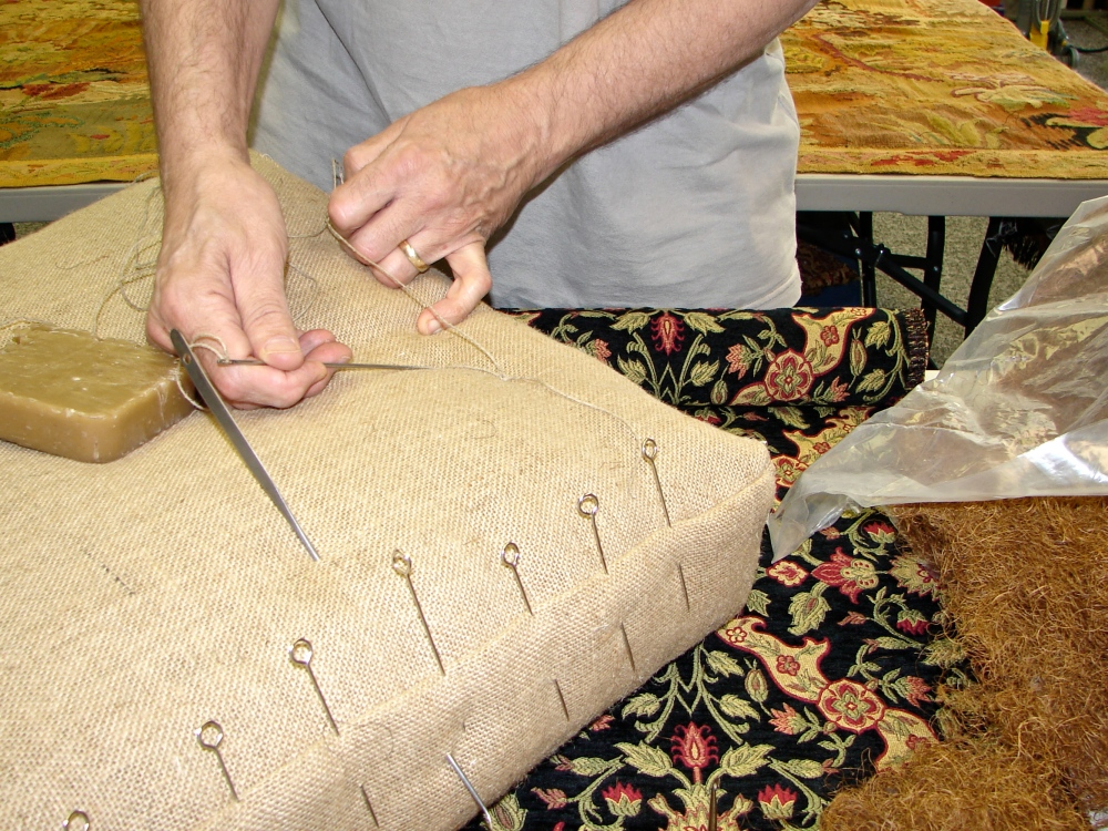 Mitchell Teaching Historic Upholstery Classes at OCAC! (1/2)