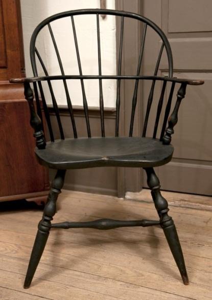 E B. Tracy Sack-back Windsor Chair Connecticut 1795b
