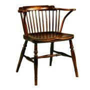 English late 18th century elm seat Windsor