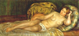 renoir nude-reclining-on-cushions-1907