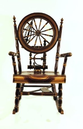 Spinning Wheel Rocking Chair 1