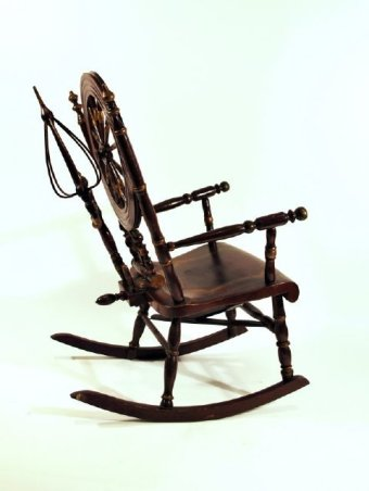 Spinning Wheel Rocking Chair 3