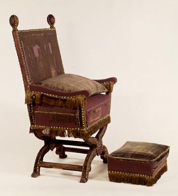 Victoria Albert William Juxon's Chair + Footstool