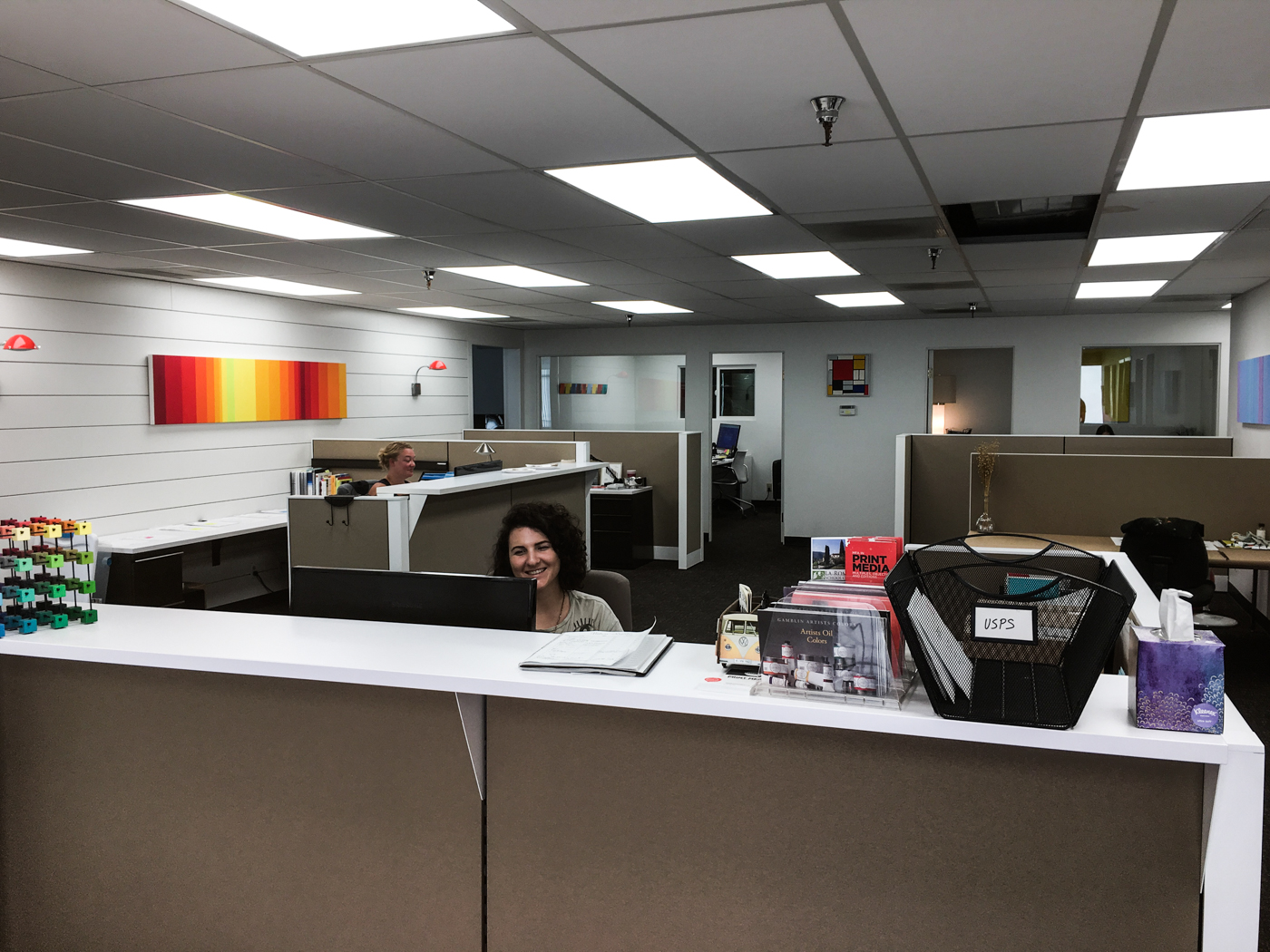Lauren And Kaitlin Say Hey From Their New Desks