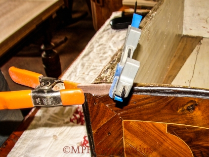 Clamped to set.