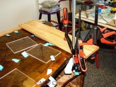 ... and clamped on the open drawer end.